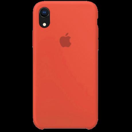 Силиконовый чехол для Apple iPhone XS Silicone Case (нектарин)