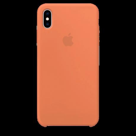 Силиконовый чехол для Apple iPhone XS Silicone Case (папайя)