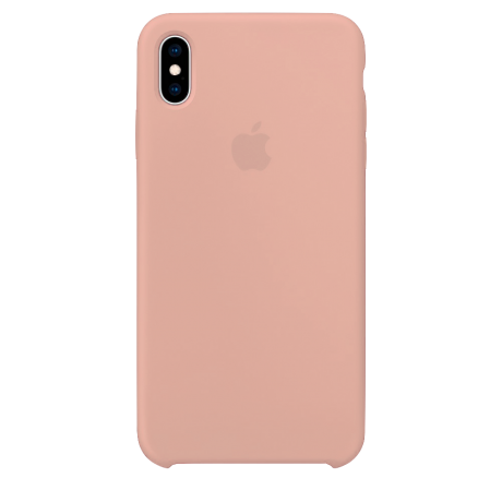Силиконовый чехол для Apple iPhone XS Silicone Case (розовый песок)